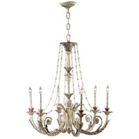 Abelle 6 Light 34 inch Parisian White Chandelier Ceiling Light