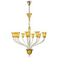 Cyan Design 6509-10-00 Vetrai 10 Light 46 inch Gold Chandelier Ceiling Light