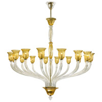 Vetrai 16 Light 63 inch Gold Chandelier Ceiling Light