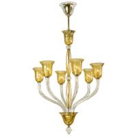 Cyan Design 6509-6-00 Vetrai 6 Light 31 inch Gold Chandelier Ceiling Light