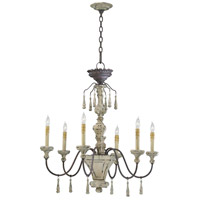 Provence 6 Light 30 inch Carriage House Chandelier Ceiling Light