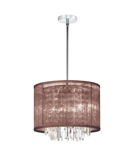 Dainolite Lighting Organza Bling 3 Light Chandelier in Polished Chrome  15123-PC-110 photo