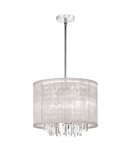 Dainolite Lighting Organza Bling 3 Light Chandelier in Polished Chrome  15123-PC-117 photo