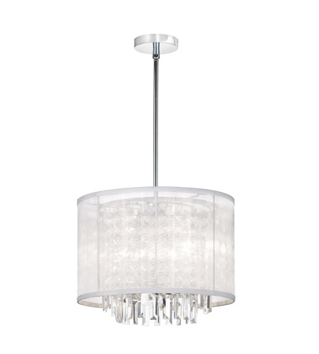 Dainolite Lighting Organza Bling 3 Light Chandelier in Polished Chrome  15123-PC-119 photo