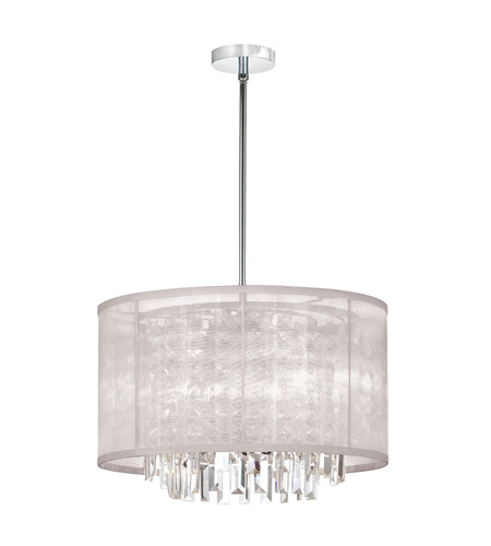 Dainolite Lighting Organza Bling 4 Light Chandelier in Polished Chrome  15174-PC-117 photo