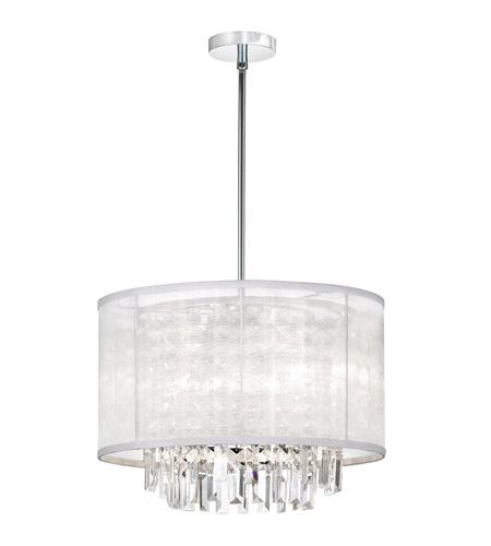Dainolite Lighting Organza Bling 4 Light Chandelier in Polished Chrome  15174-PC-119 photo