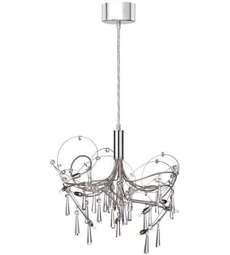Dainolite Lighting Crystal 10 Light Chandelier in Polished Chrome  1851-18-PC photo