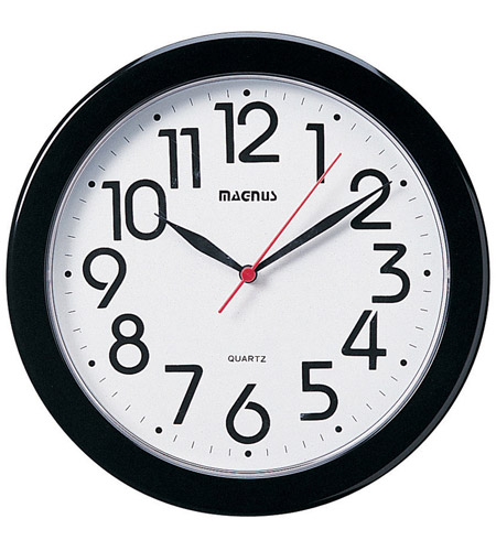 Dainolite Lighting Clock Decorative Accessory in Black  24103-BK photo