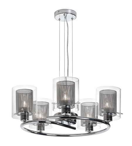 Dainolite Casual 5 Light Dinette Chandelier in Polished Chrome 30965-PC photo