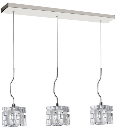 Dainolite Lighting Crystal 3 Light Pendant in Polished Chrome  381-3P-PC photo