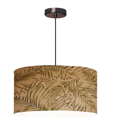Dainolite Lighting Shade Fixture 3 Light Pendant in Oil Brushed Bronze  571809-220-OBB photo