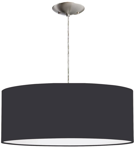 Dainolite Signature 2 Light Pendant in Satin Chrome 571867-SC-BK