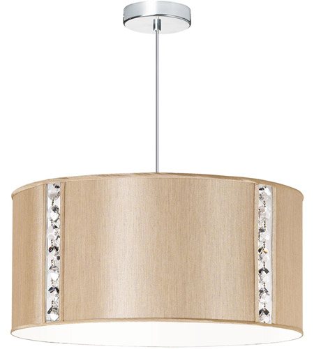 Dainolite 571898-838-PC Round Polished Chrome Pendant Ceiling Light photo