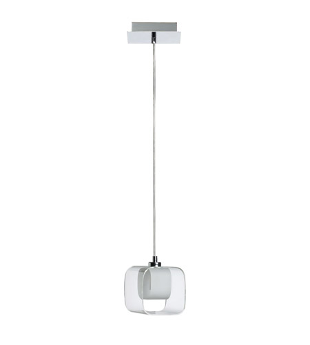 Dainolite Lighting Frosted Glass 1 Light Pendant in Polished Chrome  60151-PC photo