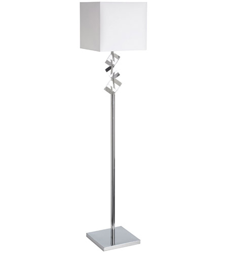 Dainolite Lighting Elegant 1 Light Floor Lamp in Polished Chrome  602F-PC-WH photo