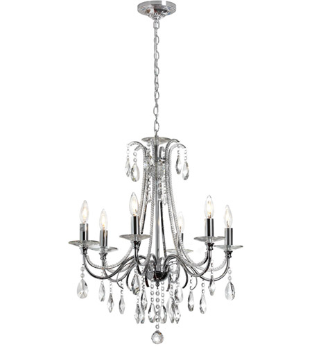 Dainolite Formal 6 Light Chandelier in Polished Chrome 615-246C-PC photo