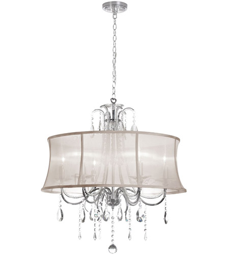 Dainolite 615-270C-PC-117 Formal 6 Light 27 inch Polished Chrome Chandelier Ceiling Light photo
