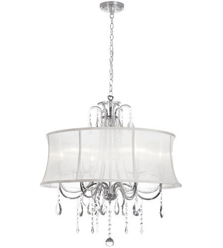 Dainolite 615-270C-PC-119 Formal 6 Light 27 inch Polished Chrome Chandelier Ceiling Light photo