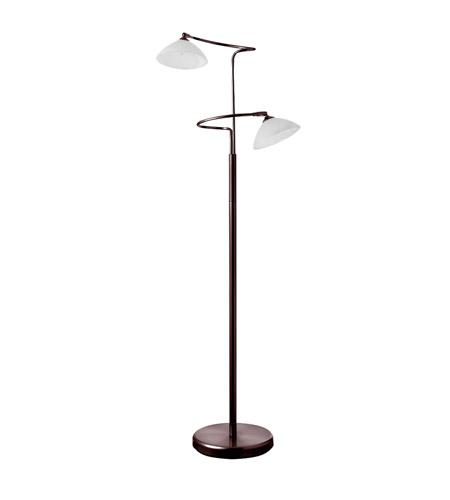 Dainolite Reading Lamp 2 Light Floor Lamp in Oil Brushed Bronze 714F-OBB photo