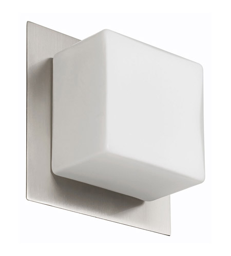 Dainolite Lighting White Glass 1 Light Wall or Ceiling Convertible in Satin Chrome  83554A-SC-OPW photo