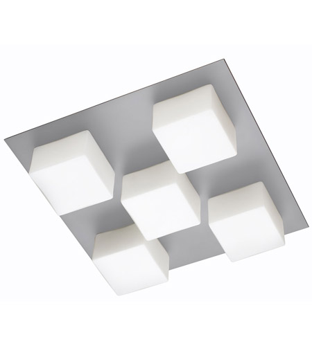 Dainolite Signature 5 Light Flush Mount in Satin Chrome 83557A-SC-OPW photo
