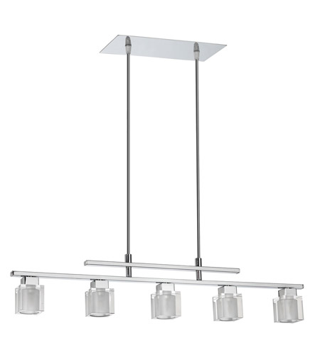 Dainolite Lighting Glass Cube 5 Light Pendant in Polished Chrome  84091A-PC photo