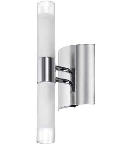 Dainolite 85035A-PC Frosted Cylinder 2 Light 4 inch Polished Chrome Vanity Wall Light photo