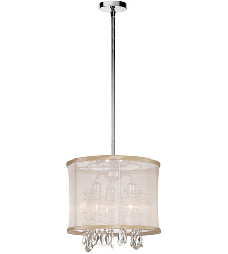 Dainolite 85312-PC-117 Bohemian 3 Light 12 inch Polished Chrome Chandelier Ceiling Light photo