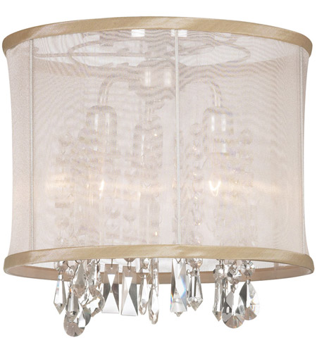 Dainolite Lighting Organza Bling 3 Light Chandelier in Polished Chrome  85312SF-PC-117 photo