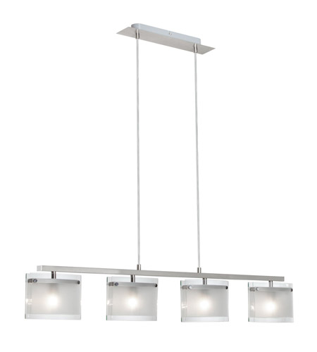 Dainolite Casual 4 Light Pendant in Satin Nickel 8554-4P-SC photo