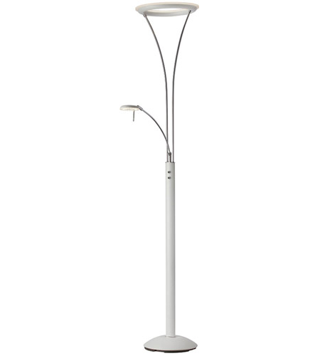 Dainolite 892LEDF-WH-CH Signature 73 inch 30 watt White and Chrome Floor Lamp Portable Light photo thumbnail