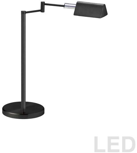 Dainolite 9157LEDT-BK Signature 15 inch 5 watt Black Table Lamp Portable Light photo thumbnail