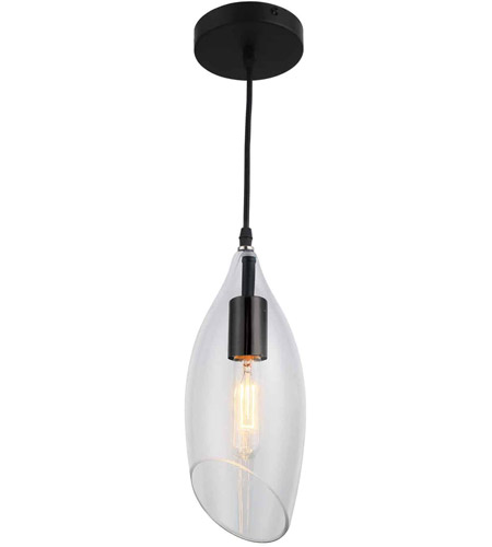 0b5560a7aaad Dainolite ABB-61P-CL Abba 1 Light 5 inch Black Pendant Ceiling Light photo