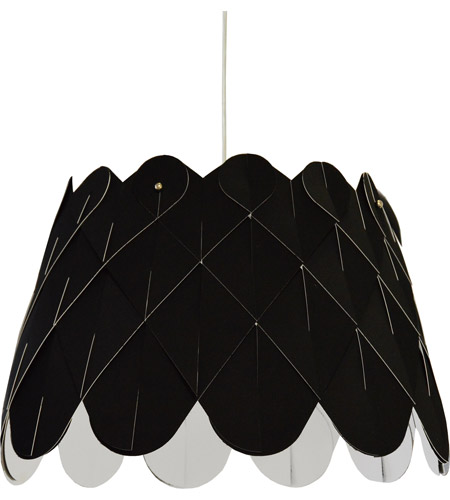 Feather Pendant Light 1-Light 20-Inches