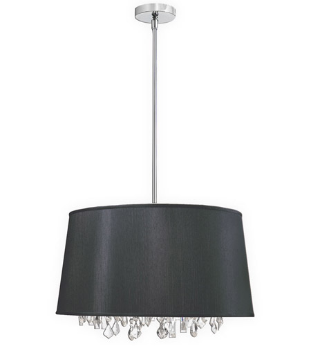Dainolite Lighting Baroness 6 Light Chandelier in Polished Chrome  BAR2111-694-PC photo