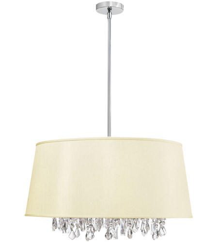 Dainolite Lighting Baroness 8 Light Chandelier in Polished Chrome  BAR2511-695-PC photo
