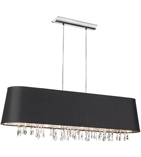 Dainolite Lighting Baroness 5 Light Chandelier in Polished Chrome  BAR4410-694-PC photo