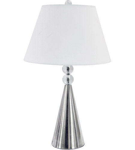 Clear Steel Signature Table Lamps