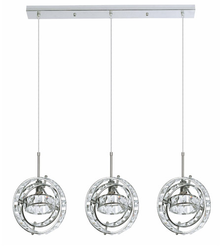 Dainolite CAS-503P-PC Cassini 3 Light 7 inch Polished Chrome Pendant Ceiling Light photo