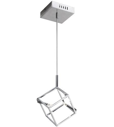 Cubo 2 Light 7 Inch Polished Chrome Pendant Ceiling Light