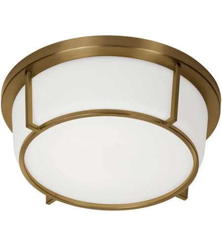 Dainolite CFLED-B1316-VB Signature LED 13 inch Vintage Bronze and White Flush Mount Ceiling Light