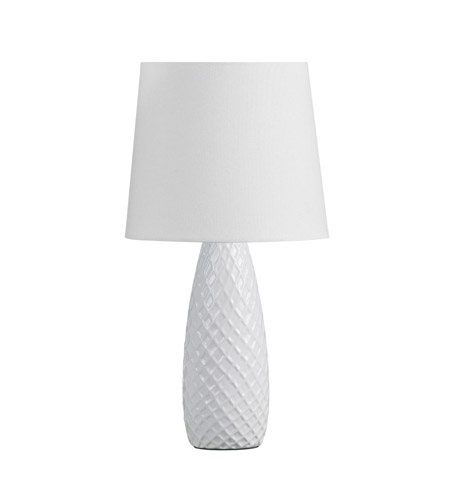 Dainolite Lighting Ceramics 1 Light Table Lamp in White  CL2128-WH photo