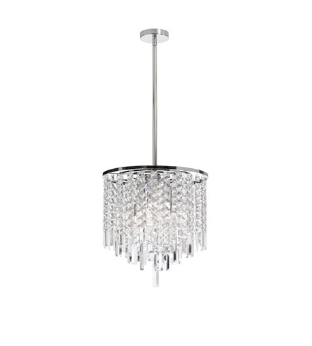 Dainolite Lighting Cubix 3 Light Chandelier in Polished Chrome  CUB-103C-PC photo