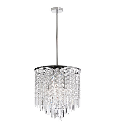 Dainolite Lighting Cubix 4 Light Chandelier in Polished Chrome  CUB-144C-PC photo