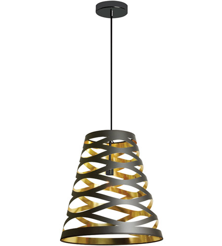 Dainolite CUT14-698 Cutouts 1 Light 7 inch Black and Gold Pendant Ceiling Light photo thumbnail