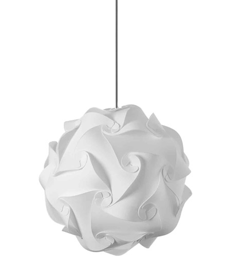 Dainolite White Fabric Pendants