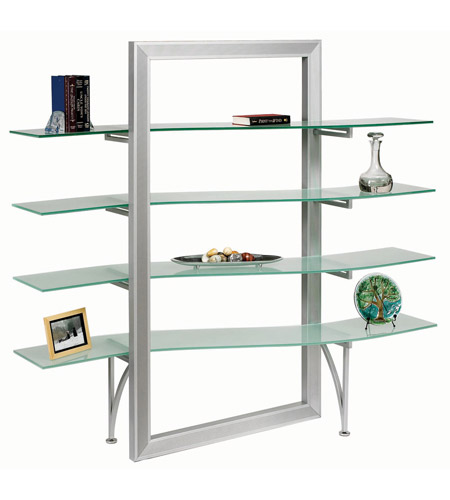 Dainolite Lighting Bookshelf Furniture in Frosted and Silver  DBS-400-GL-SV photo