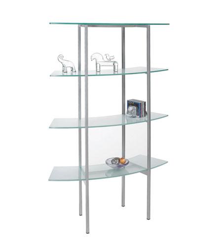 Dainolite Dbs 442 Gl Sv Bookshelf 60 X 39 15 Inch Frosted And Silver Shelf