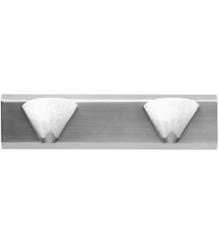 Dainolite DG9W6002-SC Signature 2 Light 19 inch Satin Chrome Vanity Wall Light