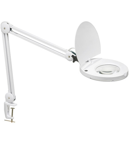 Dainolite DIM10A-5D-WH Magnifier 42 inch 22 watt White Table Lamp Portable Light photo